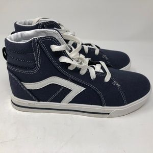 air speed Shoes - Boys Shoes BLUE CANVAS HIGH TOP SNEAKERS